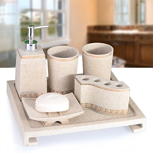 GTVERNH-Recipients Of The Gift Resin Sand Kit Home Bathroom Vanity Set Bathroom Toiletries Newly Married B