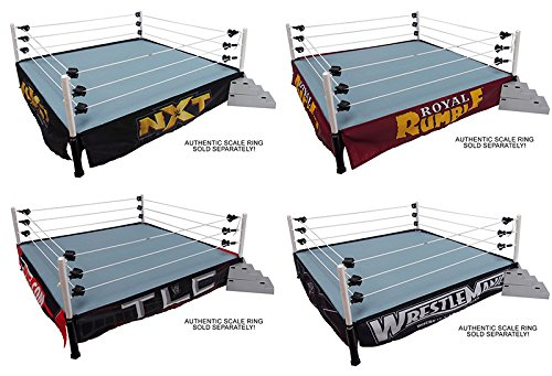 PACKAGE DEAL FOUR (4) WWE RING SKIRTS (NXT, ROYAL RUMBLE, WRESTLEMANIA & TLC) WWE RINGSIDE EXCLUSIVE WICKED COOL TOYS TOY WRESTLING ACTION FIGURE PLAYSET ACCESSORIES - RING NOT INCLUDED (Ring Rumble)