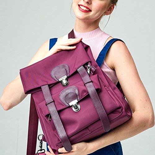 Voyage Zhuhaijq à Achats Dos pour Imperméable Dos pour Sac Sac Mode Sac Femme Marchant Purple des Sports en à 1qxa1wr