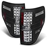 For Ford F-150 F150 Pickup Truck Black Bezel LED Tail Lights Brake Driver/Passenger Lamps
