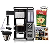 Ninja Coffee Bar Single-Serve System (CF111), Melitta Cone Coffee Filters, Natural Brown, No. 4, 100-Count Filters & Zonoz One-Tablespoon Plastic Clever Scoop (Bundle)