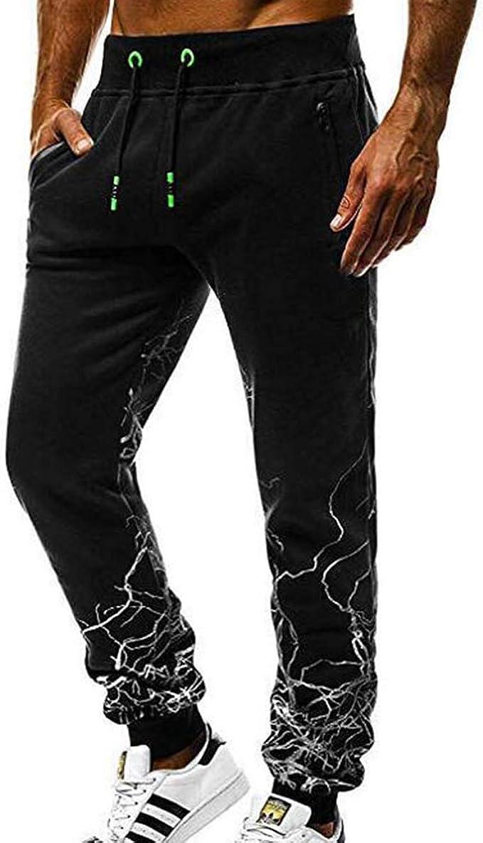 Pantalones Deportivos para Hombre Pantalones de Gimnasia Slim ...