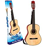 "34"" Beginner's 6 String Acoustic Guitar With Strap Plectrum Kids 5-14 Years"