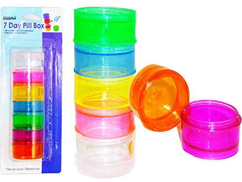 PILL BOX 7 DAY , Case of 144