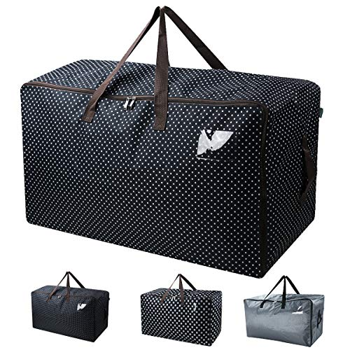 Collapsible Storage Bags - Waterproof Thick Over-sized Organizer Storage Bag with Strong Handles, Travelling Bag, College Carrying Bag, Camping Bag for Christmas, Festival Decorations, Washable (27.516.513.8