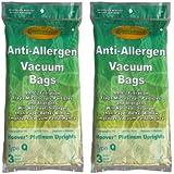 6 Hoover Type Q Part #302982002 Platinum Upright Vacuum Cleaner HEPA Bag UH30010