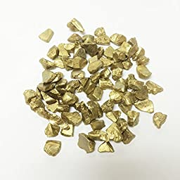 CYS Vase Filler Colored Crushed Glass Table Scatters, Gold, 1 lb per bag (16 bags), D-0.2\