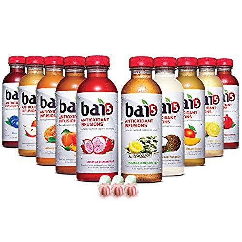 THY Variety Pack, 100% Natural, Antioxidant Infused Beverage, 18-Ounce Bottles ( 10 Pack ) by bai ()