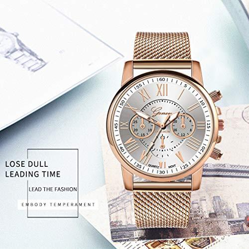 Pocciol Fashion Military Stainless Steel Quartz Watch Womens Casual Watch Luxury Analog Wristwatch (White) by Pocciol Cheap-Nice Watch (Image #2)