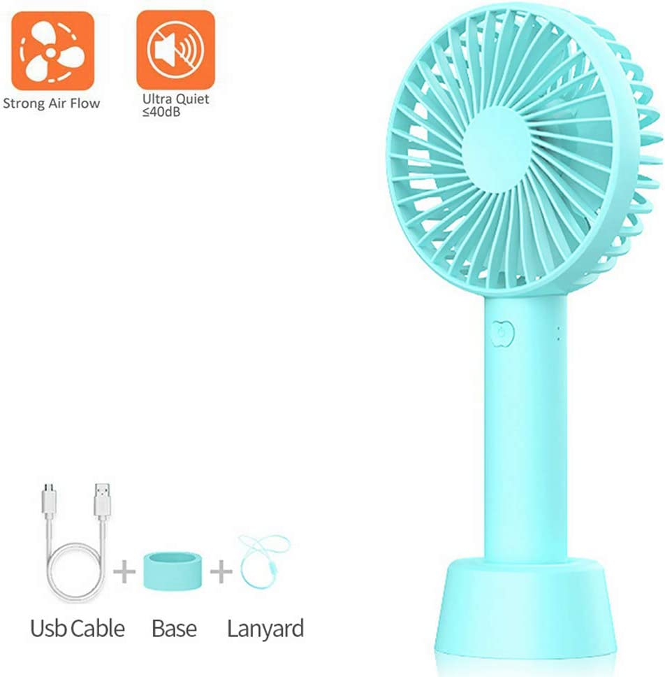 eLinkSmart USB Mini Handheld Fan Portable Desktop Electric Fan with Base for Home Office Travel Outdoor