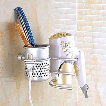 Amazoncom Ioffersuper Bathroom Wall Mount Hair Dryer Holder Rack - Bathroom cup holders wall mount for bathroom decor ideas