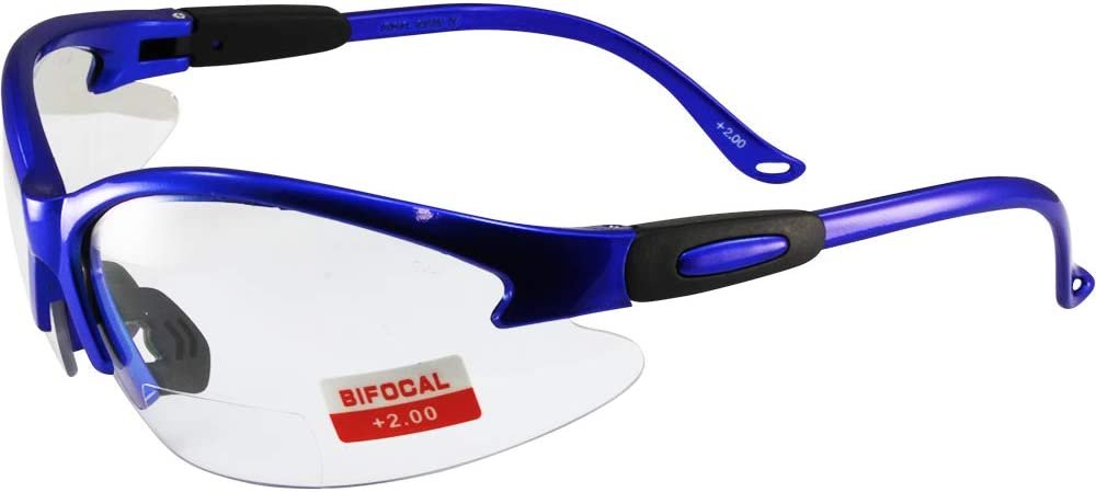 Various Lens Options including Photochromic Cougar BLACK Safety Glasses