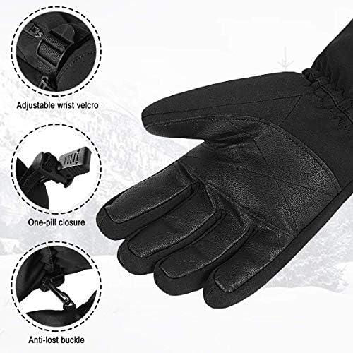 Ski Gloves,Waterproof Mens Womens Ski Gloves,Winter Warm 3M Thinsulate Snow Gloves Snowboard Gloves Snowmobile Gloves