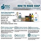 FDC 99% Pure Sodium Hydroxide/Pure Lye, 2 lb Jar