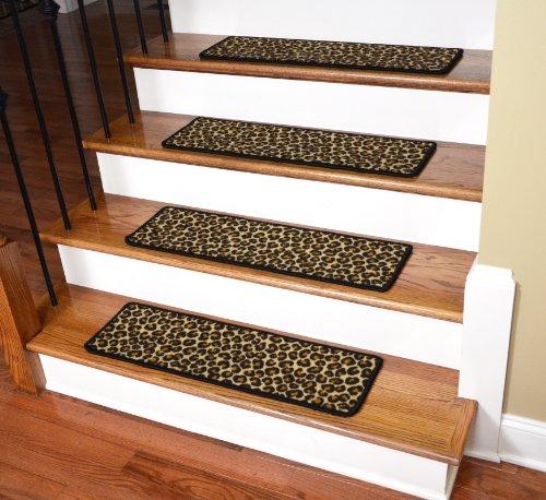 Animal Print Rug Runners For Stairs: Dean Premium Non-Slip Pet Friendly Carpet Stair Treads
