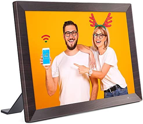 VANKYO WiFi Digital Photo Frame, 10.1 inch Touch Screen, Smart HD Display, Instant Share Photos and Videos by the use of App, Email, Cloud, 16GB Storage, Auto-Rotate, Background Music, Support USB and SD Card