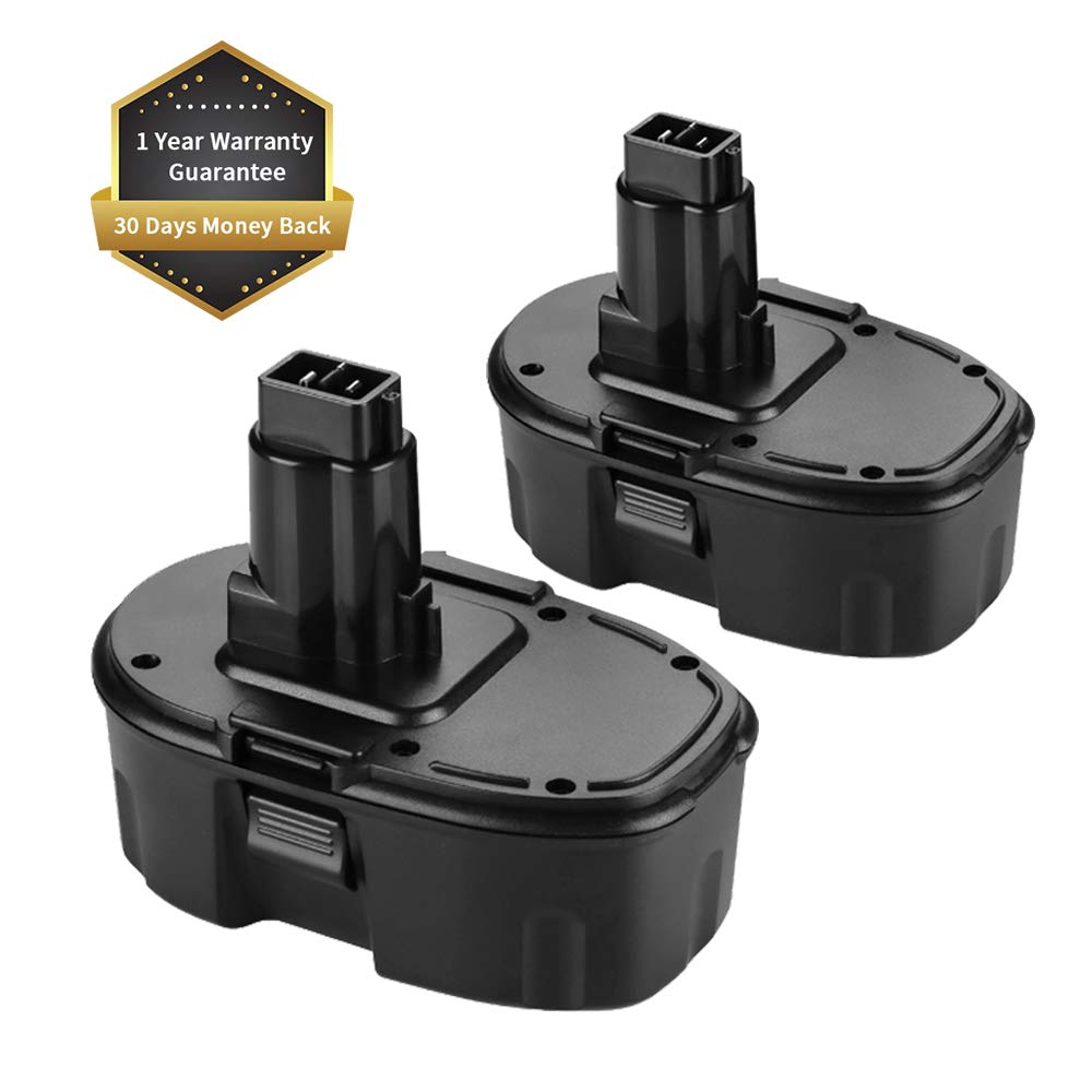 Replace Dewalt 18V Battery for Dewalt 18 Volt 3.6AH DC9096 DC9099 DC9098 High Capacity Cordless Drill (2Packs)