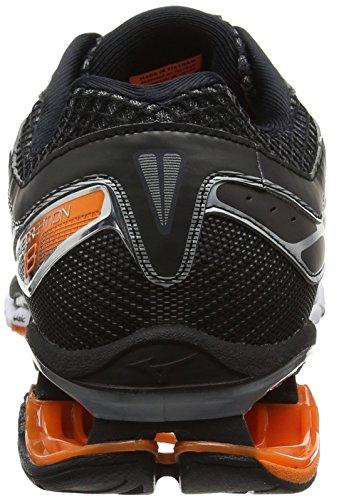 Mizuno Wave Creation 18, Zapatillas De Running para Hombre Negro (Black/clownfish/silver)