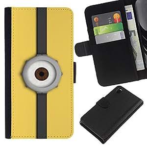 eJoy---La carpeta del tirón la caja de cuero de alta calidad de la PU Caso protector - Sony Xperia Z3 D6603 - --Eye Watch