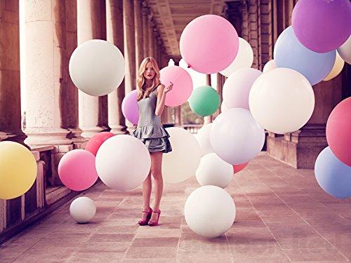 36 Inch Giant Jumbo Latex Balloons (Premium Helium Quality), Pack of 6, Assorted - Jumbo Hat