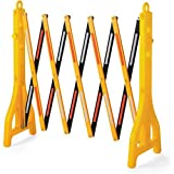 Vestil PEXGATE-30 Plastic Expand-A-Gate, 38'' Height, 15'' Length, 11-1/2'' Retracted Width, 122'' Extended Width, Yellow