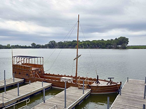 historic pictoric Photograph| Full-size replica of a keelboat at the Lewis & Clark State Park, on an inlet of the Missouri River in Onawa, Iowa 2 Fine Art Photo Reproduction 60in x 44in