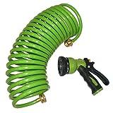 Centurion 814 25' Coil Nozzle Hose with Nozzel, Green