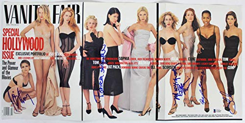 - Women Of Hollywood (6) Moore, Bullock Signed Vanity Fair Magazine Cover BAS - Beckett Authentication
