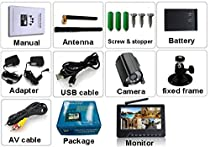 Digital wireless cctv camera security system, SD Card Recording with 7 Inch LCD Monitor