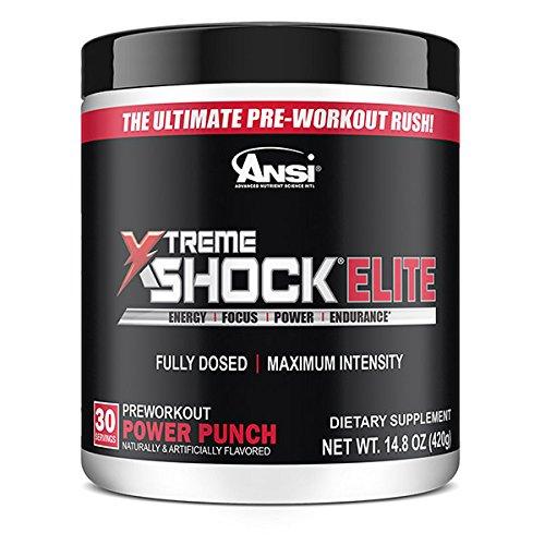 Ansi N.o. Xtreme Shock Powder, Tropical Punch, 450 ()