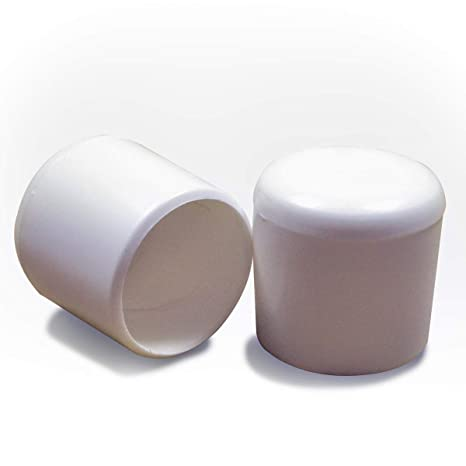ajile - 4 piezas - Contera plástica redonda D: 25 mm - BLANCA ...