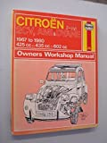 Citroen 2CV, Ami and Dyane Owner's Workshop Manual by Ian Coomber (1981-01-01)