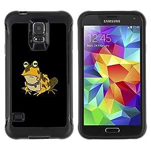 Paccase / Suave TPU GEL Caso Carcasa de Protección Funda para - Funny Hypnotic Frog Toad - Samsung Galaxy S5 SM-G900