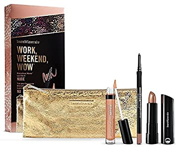 efe9309c1 BareMinerals Work, Weekend, Wow Marvelous Moxie Lip Trio - Nude