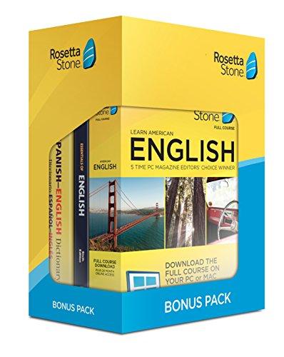Software : Learn English: Rosetta Stone Bonus Pack (24 Month Subscription + Lifetime Download + Book Set)