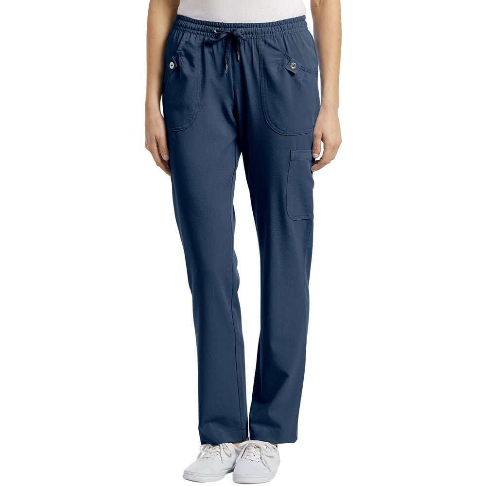 af45418630b Amazon.com: White Cross Elastic Waist Drawstring Cargo Pocket Scrub Pant:  Clothing