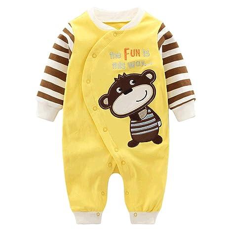 a116d90bf8d34 Vine Pyjama Bébé Fille Garçon Grenouillère Combinaisons en Coton Bouton à  Manches Longues Chaud Pyjama Déguisement