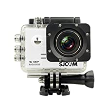 Original SJCAM SJ5000 Action Camera Sports DVR Water Resistant 30M Outdoor Camcorder Helmet Bicycle Motorcycle Camera with a Free Mini SmartTmall Wrench (White)
