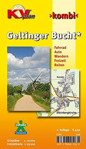 Geltinger Bucht: 1:10.000 Amtsplan mit Freizeitkarte 1:25.000 inkl. Radrouten, Wander- und Reitwegen (KVplan Schleswig-Holstein-Region)