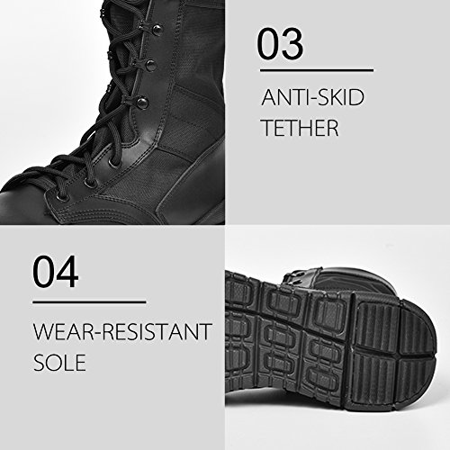 a0da753ae9a IODSON US Mens' Ultra-Light Combat Boots Military Tactical - Import ...
