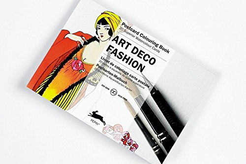 Artists' Colouring Postcard Art Deco Fashion