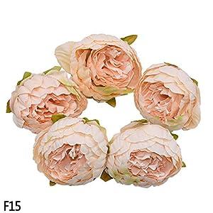MZjJPN 1/2/5/10Pcs 8cm Peony Flower Head Silk Artificial Flowers Wedding Decoration DIY Garland Scrapbooking Craft Flower,FH15,10pcs 75