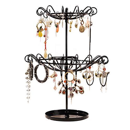 (AMDXD Jewelry Rack for Necklaces Alloy Irregular Black Jewelry Storage Stand)
