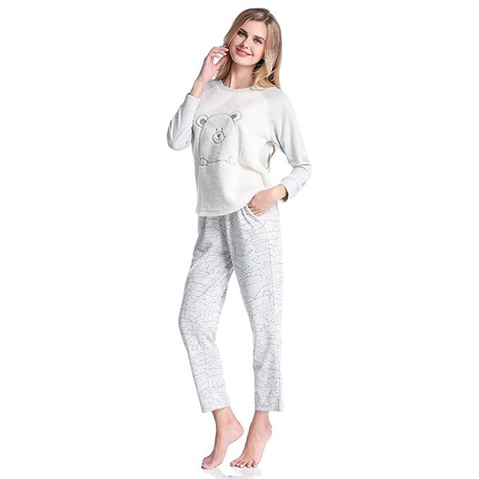 La Sra otoño e invierno servicio a domicilio/pijama de terciopelo de coral traje de