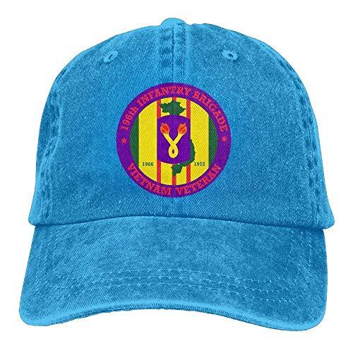 SweetieP 196th Light Infantry Brigade Vietnam Veteran Adjustable Baseball Caps Denim Hats Cowboy Sport Outdoor