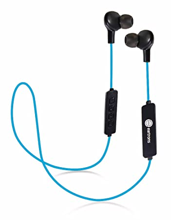 Eartrons in-Ear Sports Wireless Bluetooth Headset with Built-in Microphone, Quick Charging, upto 8 Hours Playtime, Music Equalizer & Bass, IPX-4 water resistant, Sweatproof Design for Jogging,Running & Gym, Black & Blue