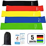 Resistance Loop Band Workout Bands for Legs and Butt Fitness Bands Elastic Bands for Exercise,5 Packs