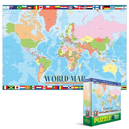 Ravensburger political world map 500pc jigsaw puzzle amazon eurographics world map mo puzzle 100 pieces gumiabroncs Gallery