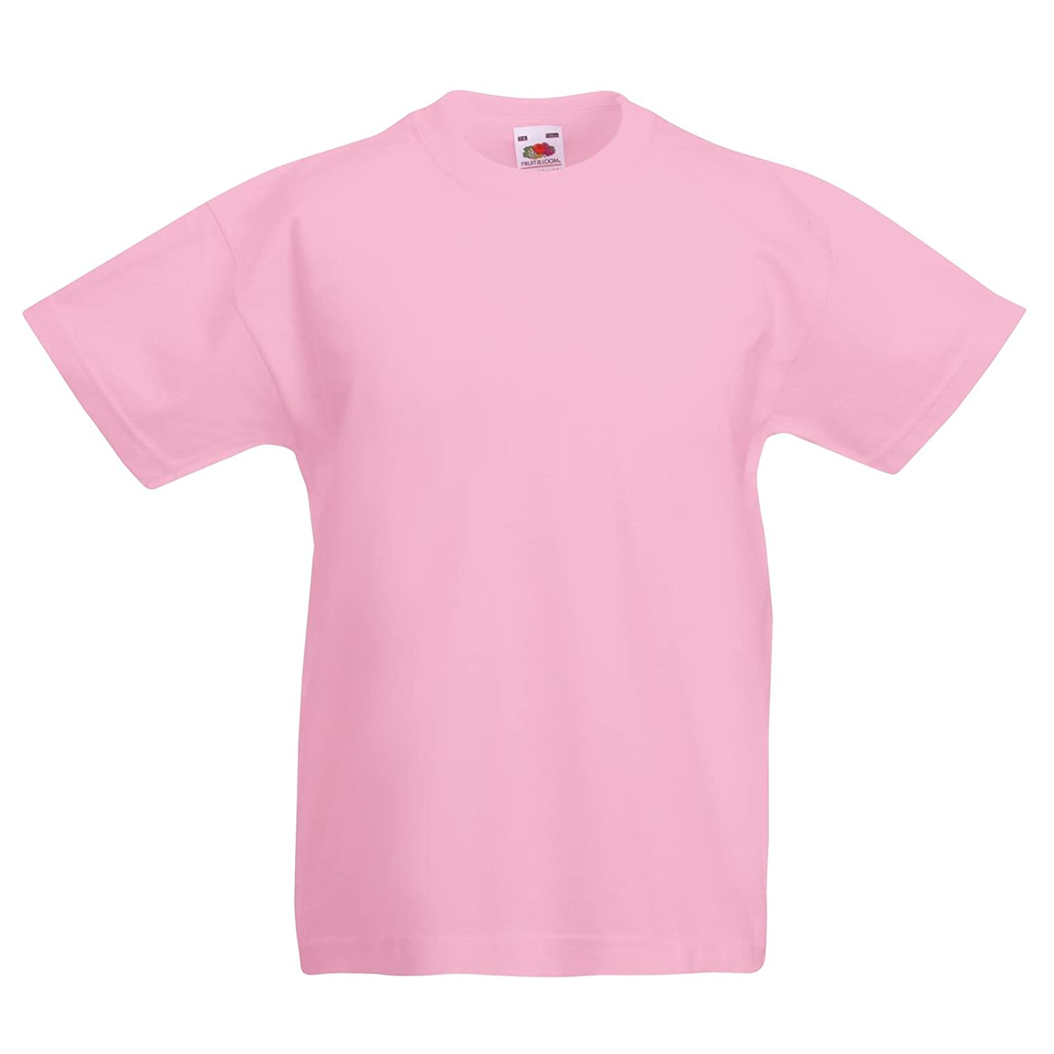 6cf608f84 New Fruit of the Loom Childrens Kids Value Cotton T Shirt: Amazon.co.uk:  Clothing
