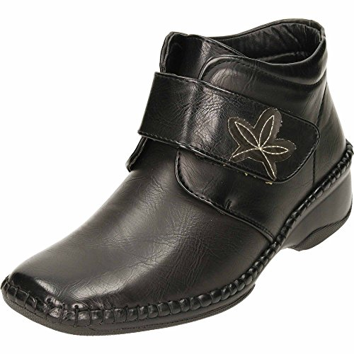 Cushion Loop Walk Boots Wedge and Hook Ankle Heel Black jwf wYdqnxv4Y